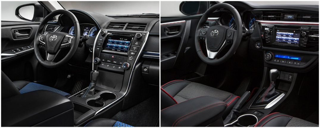 toyota camry corolla special edition interior accents toyota vacaville. Black Bedroom Furniture Sets. Home Design Ideas
