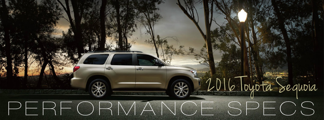 2016 Toyota Sequoia performance specs