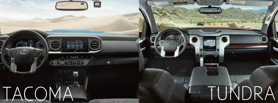 2016 Toyota Tacoma Vs Tundra Interior Dashboard