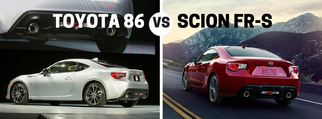 Toyota Corolla 2017 Lease >> 2017 Toyota 86 vs 2016 Scion FR-S Comparison