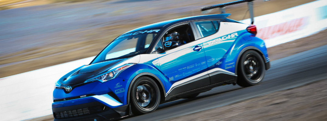 Toyota-C-HR-R-Tuned-driving-on-race-track
