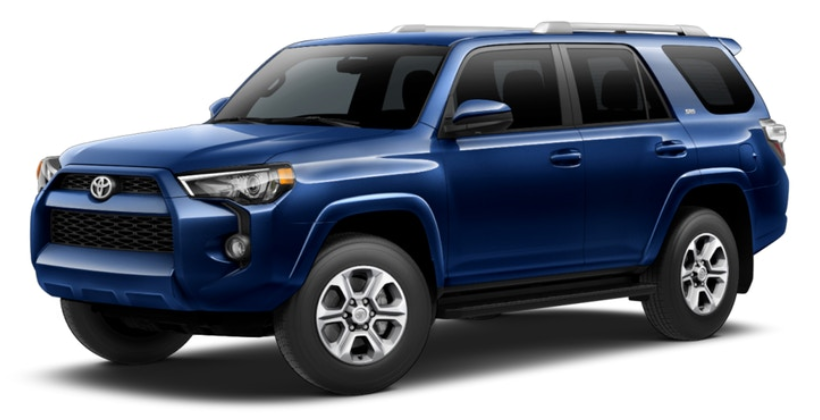 What are the color options for the 2018 Toyota 4Runner?