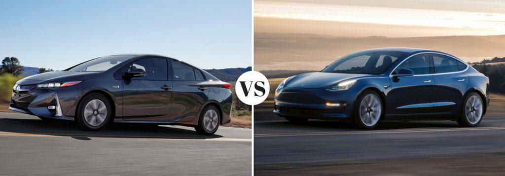 Toyota Prius Prime vs Tesla Model 3