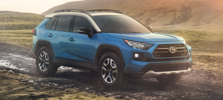 2019 Toyota Rav4 In Blue Flame With Ice Edge Roof O Toyota Vacaville
