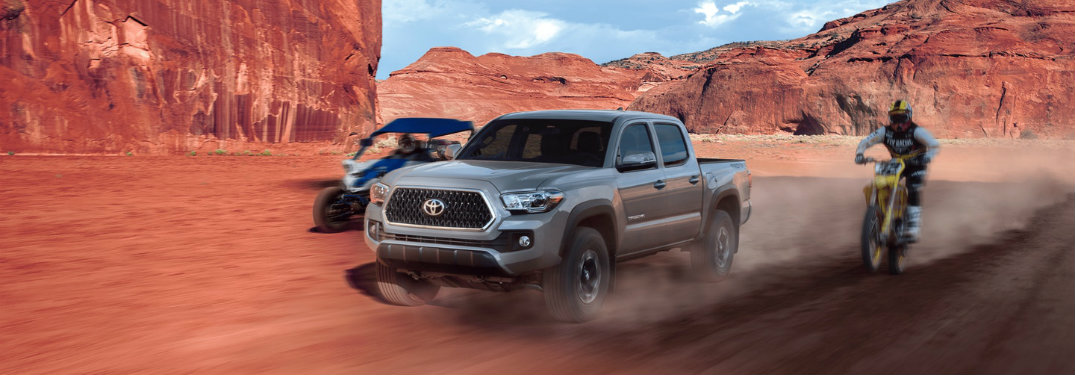 What accessories does the Toyota Tacoma offer for camping?