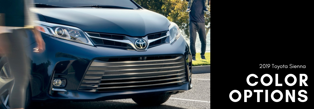 What color options are available on the 2019 Toyota Sienna?