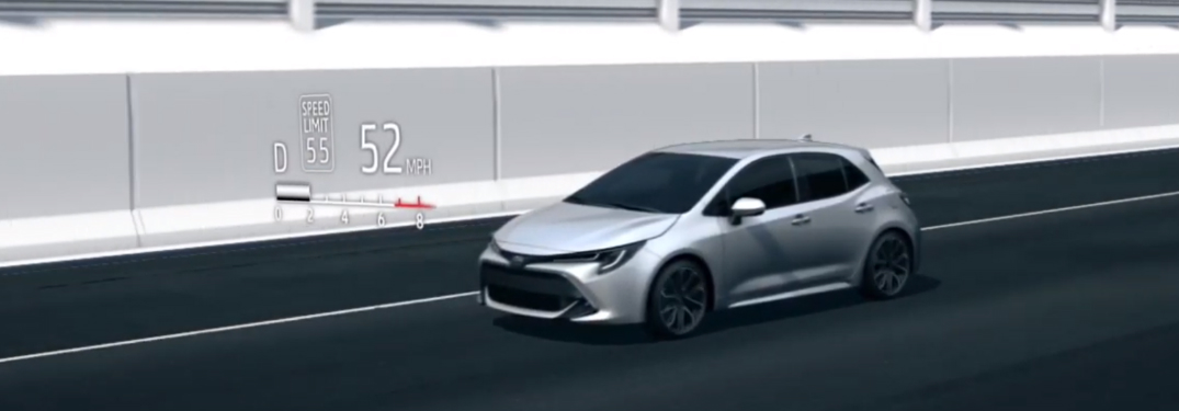 How the Toyota Road Sign Assist Feature Works