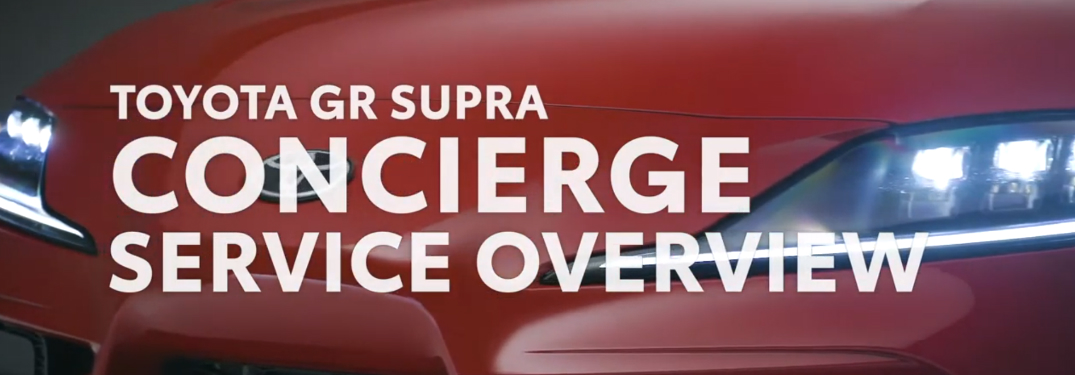What features does the 2020 Toyota GR Supra Concierge Service offer?