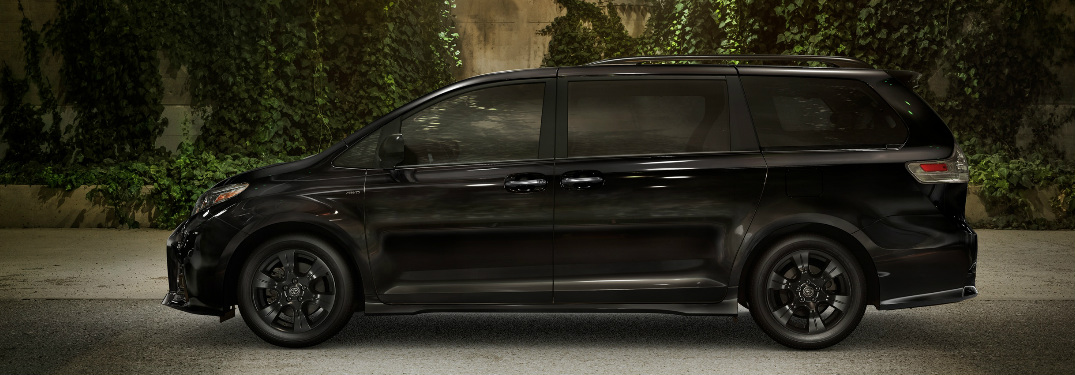 Side view of black 2020 Toyota Sienna