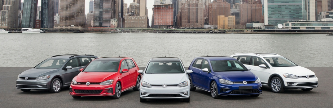 Volkswagen golf family by the water