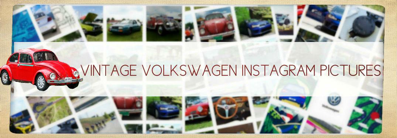 Blurred Instagram photos with vintage Volkswagen Instagram pictures