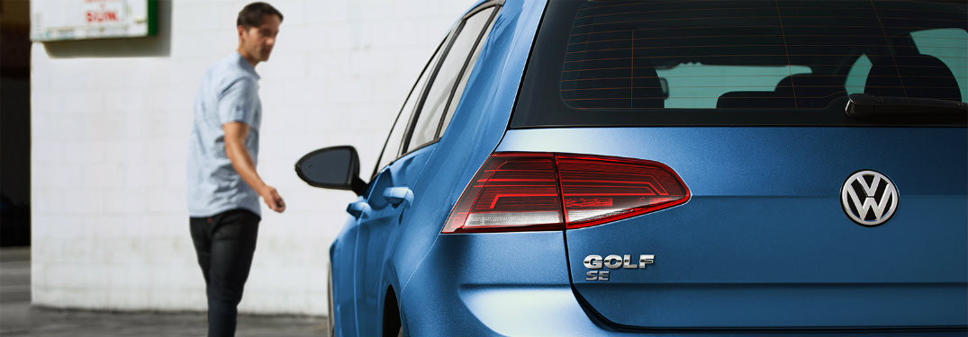 Rear end and badge for the 2019 VW Golf