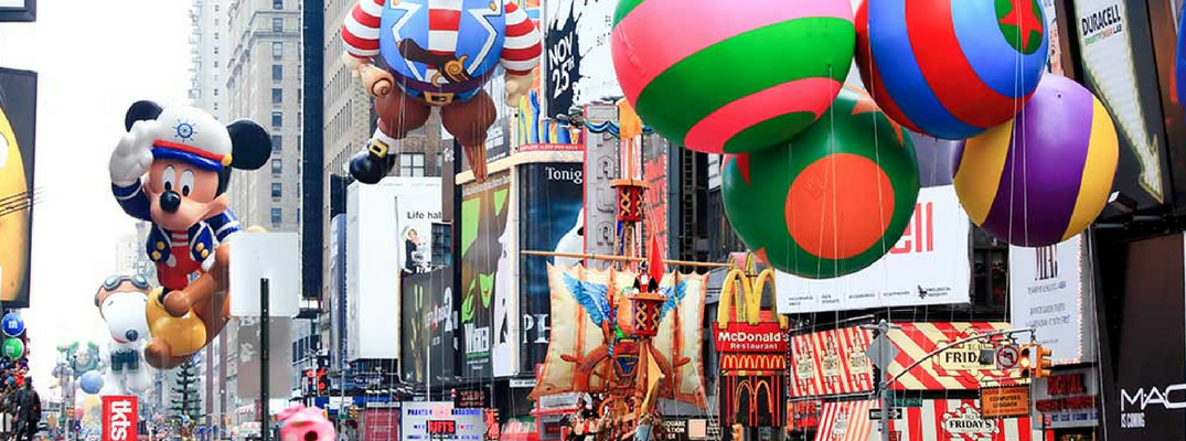 thanksgiving day parade with balloons