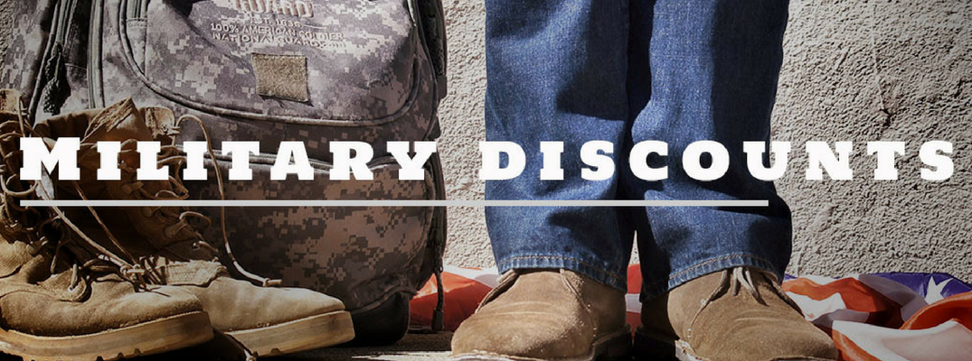 military discounts picture with shoes and legs