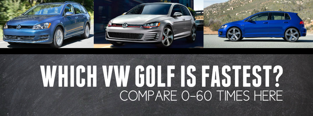 Which Volkswagen Golf Model Has Shortest 0-60