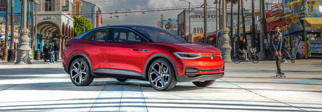 Volkswagen I.D. BUZZ Concept red front exterior view