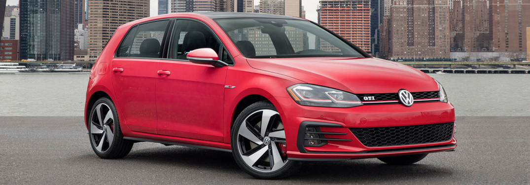 full view of 2018 golf gti driving