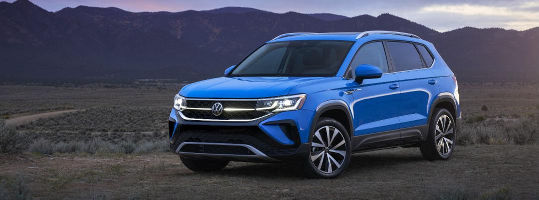 Blue 2022 Volkswagen Taos