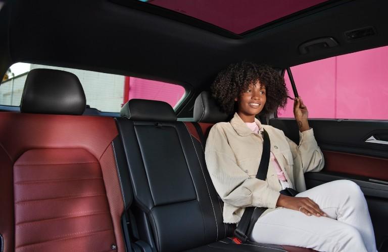 2021 Volkswagen Atlas Cross Sport rear passenger seat