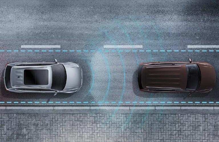 2021 Volkswagen Atlas Cross Sport Forward Collision Warning diagram