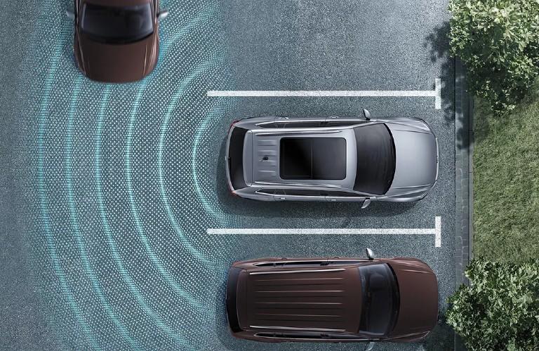 2021 Volkswagen Atlas Cross Sport Rear Traffic Alert diagram