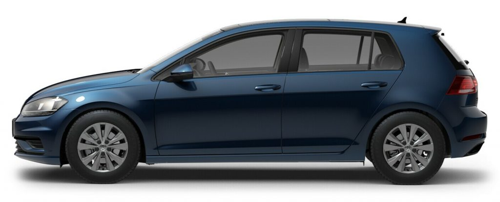 2021 Volkswagen Golf Silk Blue Metallic