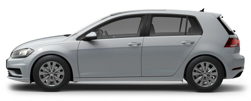 2021 Volkswagen Golf White Silver Metallic