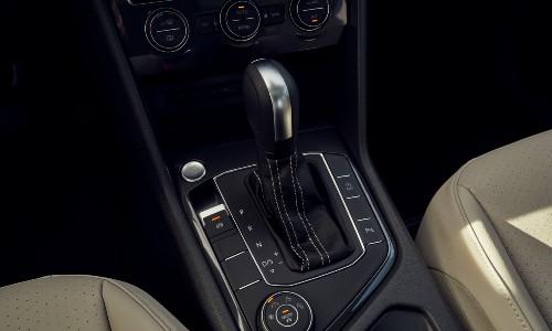 2021 Volkswagen Tiguan interior focus on shifter