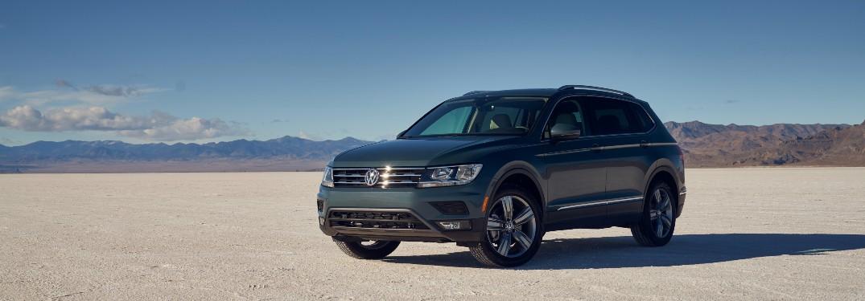 2021 Volkswagen Tiguan parked on flat desert ground