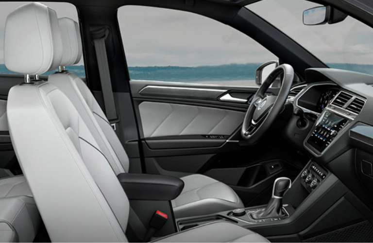 Front seat view of the Volkswagen Tiguan