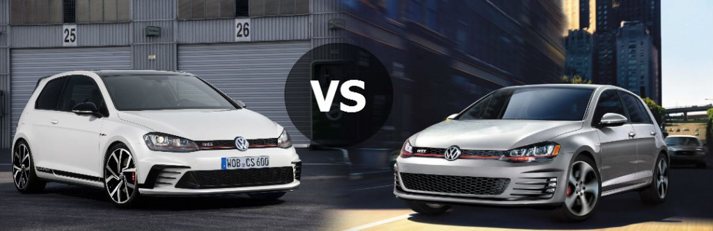 2016 VW Golf GTI Clubsport vs 2016 VW Golf GTI