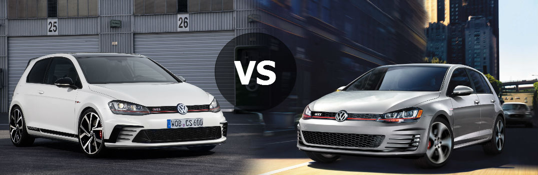 2016 vw golf gti clubsport vs 2016 vw golf gti. Black Bedroom Furniture Sets. Home Design Ideas