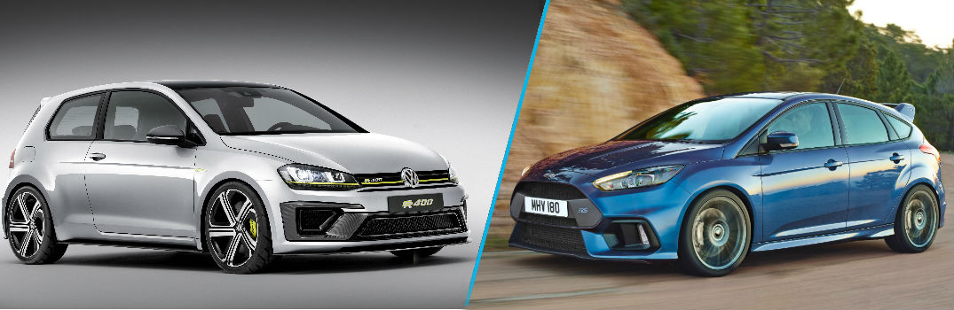 engine specs of the 2016 golf r400 vs 2016 ford focus rs