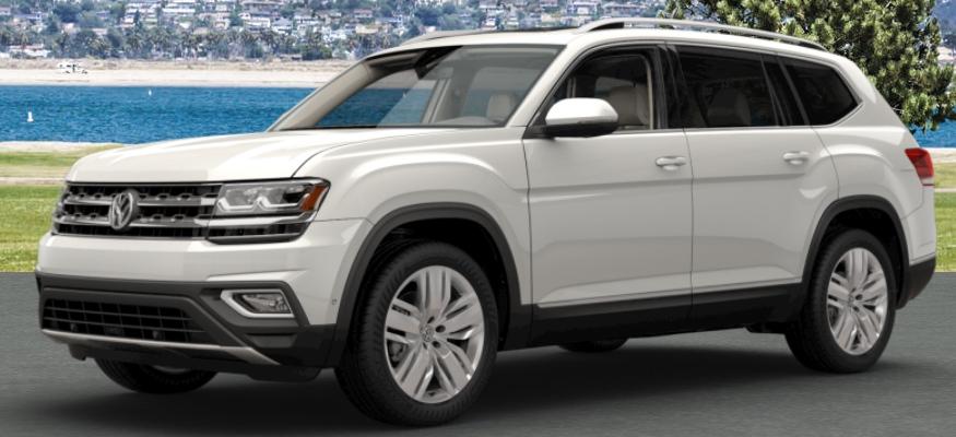 2018 Volkswagen Atlas color options