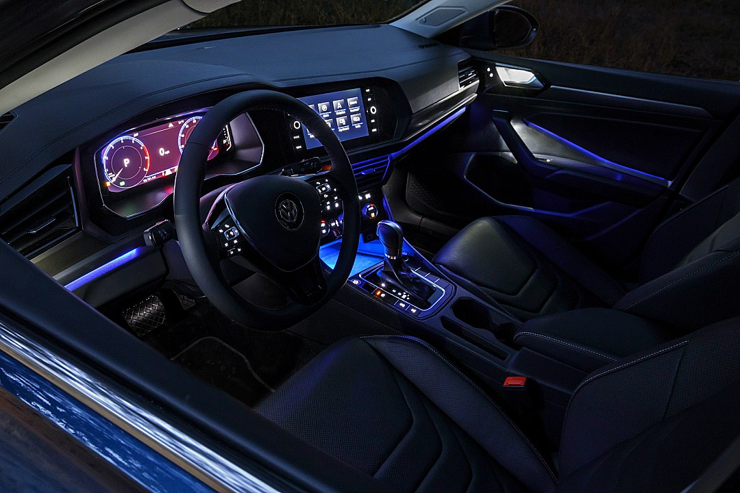 2019 VW Jetta With Blue Interior Accent Lighting