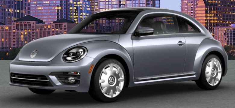 2018 VW Beetle Platinum Gray Metallic Front Side View