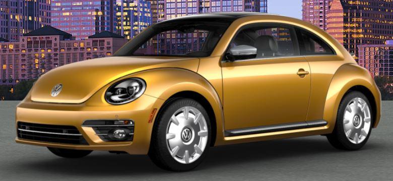 2018 VW Beetle Sandstorm Yellow Metallic Front Side View