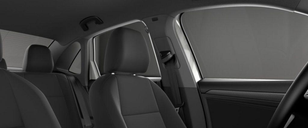 VW Jetta black seats