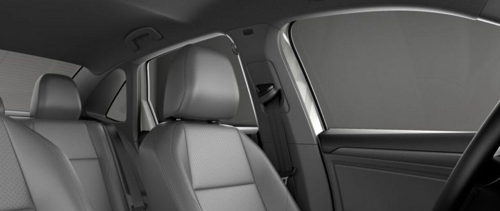 VW Jetta light gray seats