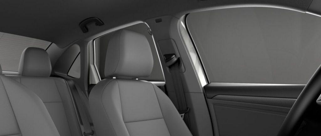 VW Jetta dark gray seats