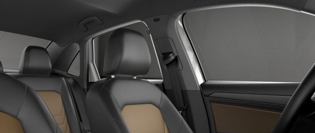 VW Jetta  two tone seats, black and tan