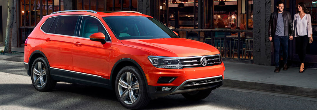 2018 Volkswagen Tiguan parked on the side of the road
