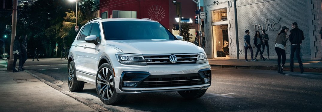 2019 Volkswagen Tiguan parked on a city street