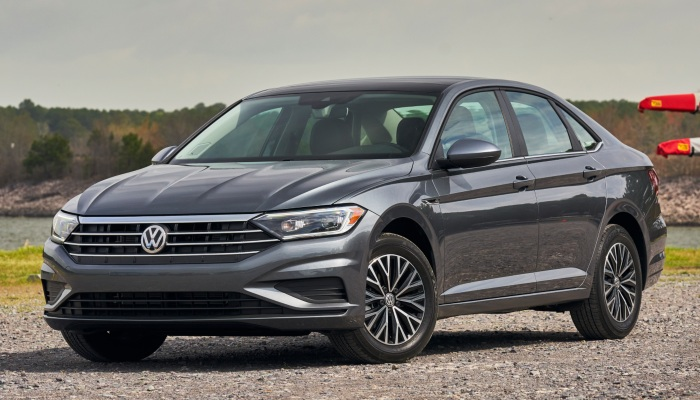 2019 Volkswagen Jetta parked on a gravel road