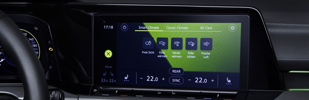 Intelligent Climate Control in new Golf
