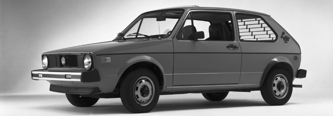 Volkswagen Rabbit MK1 black and white