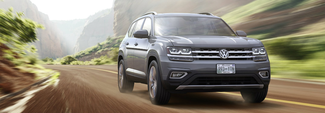 front view of gray vw atlas