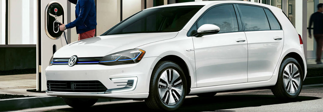 2019 Volkswagen e-Golf parked and getting charged