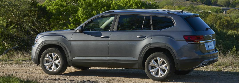 Side view of grey 2020 Volkswagen Atlas