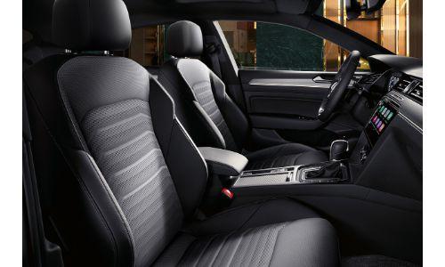 2019 Volkswagen Arteon interior view through passenger door showing front seats